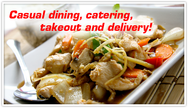Casual dining, catering, takeout and delivery!; Chinese food